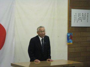 野村会長より祝辞を頂く
